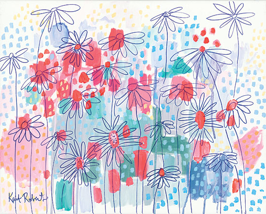 Kait Roberts KR315 - Sweet as a Daisy - 16x12 Abstract, Flowers, Wildflowers, Field from Penny Lane