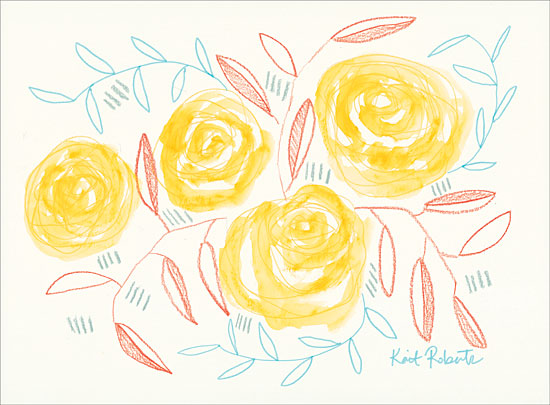 Kait Roberts KR328 - Lemoncello - 16x12 Abstract, Flowers, Yellow Flowers from Penny Lane