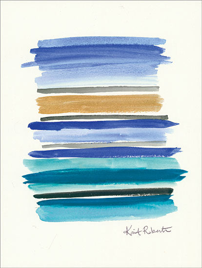 Kait Roberts KR338 - Two Week Vacation - 12x16 Abstract, Lines, Blue from Penny Lane