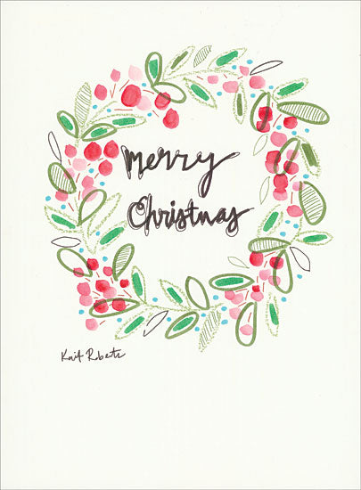 Kait Roberts KR339 - That Time of Year - 12x16 Holidays, Wreath, Berries, Merry Christmas from Penny Lane