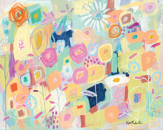Kait Roberts KR364 - KR364 - It's Risky to Blossom - 16x12 Abstract, Flowers, Modern from Penny Lane