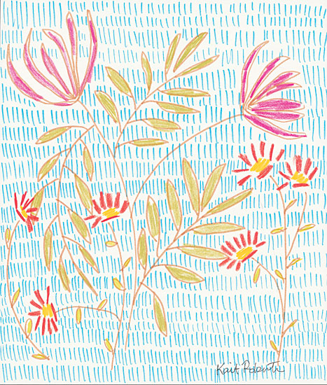 Kait Roberts KR380 - Sweetheart - 12x16 Abstract, Flowers, Blooms, Wildflowers, Patterns from Penny Lane