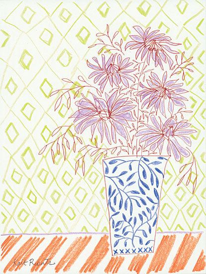 Kait Roberts KR388 - Candy Hearts - 12x16 Abstract, Flowers, Blooms, Vase, Patterns from Penny Lane