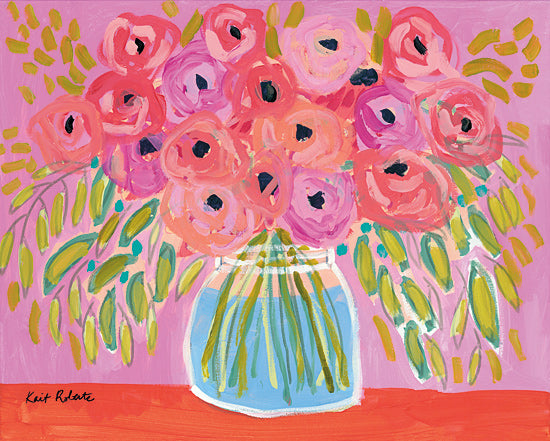 Kait Roberts KR469 - KR469 - Afternoon Glow - 16x12 Flowers, Blooms, Bouquet, Botanical, Vase, Abstract from Penny Lane