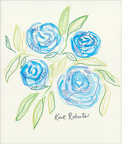 Kait Roberts KR478 - KR478 - Save the Date - 12x16 Abstract, Flowers, Blue Flowers from Penny Lane