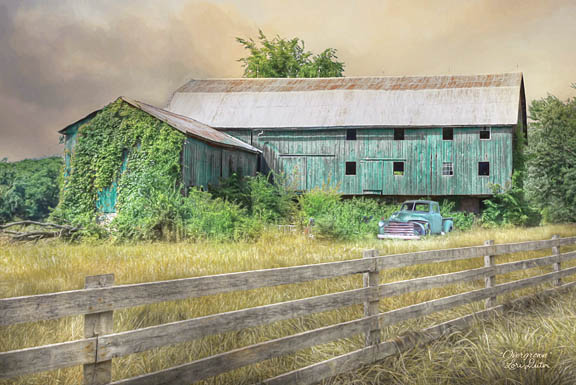 Lori Deiter LD1147 - Overgrown - Barn Fence, Field, Brush from Penny Lane Publishing