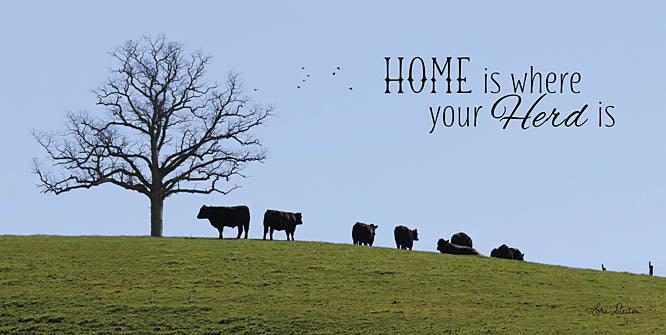 Lori Deiter LD1151 - Home Is Where Your Herd Is - Cow, Trees, Home, Farm, Grazing from Penny Lane Publishing