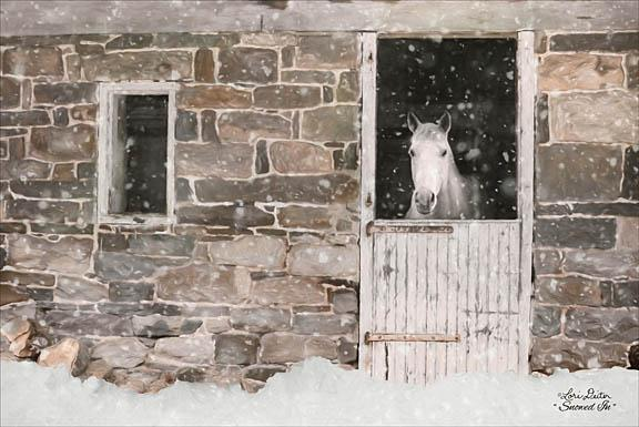 Lori Deiter LD1156 - Snowed in Horse - Horse, Barn, Snow, Winter from Penny Lane Publishing