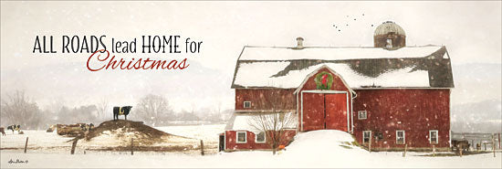Lori Deiter LD1160 - All Roads Lead Home for Christmas - Barn, Farm, Winter, Snow, Holiday, Home from Penny Lane Publishing