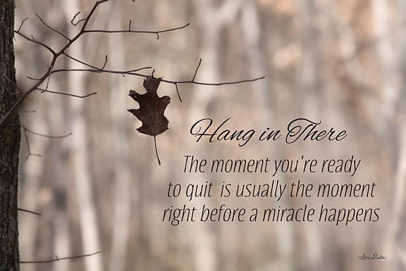 Lori Deiter LD1172 - Hang in There - Leaf, Tree, Hang in There, Encouraging, Signs from Penny Lane Publishing
