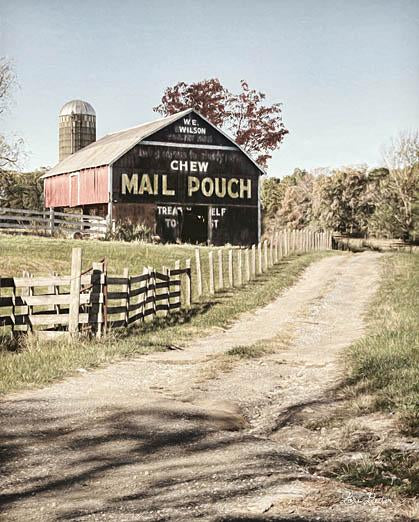 Lori Deiter LD1174 - Mail Pouch Lane - Mail Pouch, Barn, Road, Fence, Farm, Advertising from Penny Lane Publishing