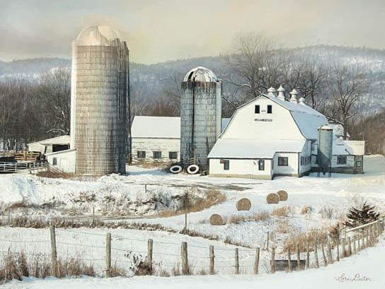 Lori Deiter LD1178 - The Lake Farm - Farm, Barn, Silo, Field, Snow from Penny Lane Publishing
