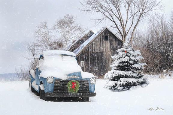 Lori Deiter LD1179 - Christmas on the Farm - Truck, Snow, Barn, Trees from Penny Lane Publishing