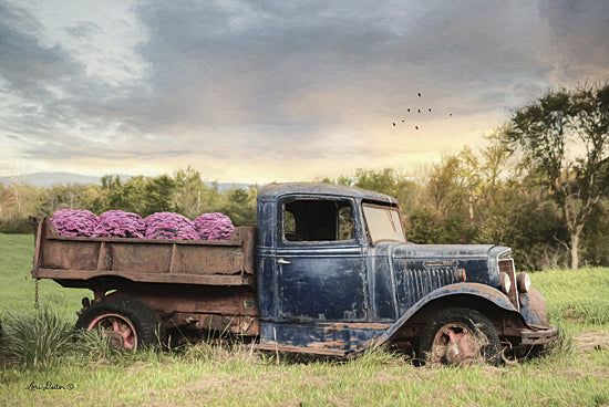 Lori Deiter LD1182 - Flower Delivery - Flowers, Delivery, Truck, Antique, Field, Hydrangeas from Penny Lane Publishing