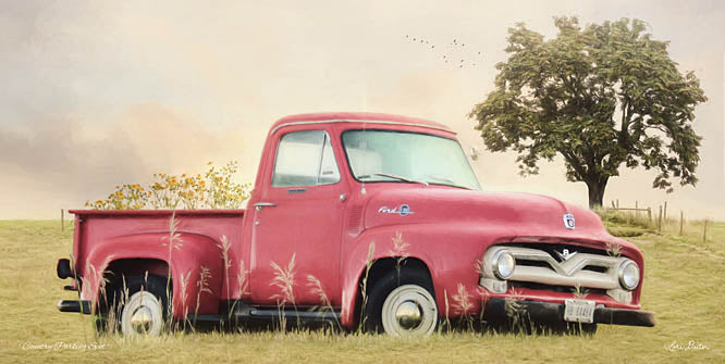 Lori Deiter LD1183 - Country Parking Spot - Truck, Field, Antiques, Flowers from Penny Lane Publishing