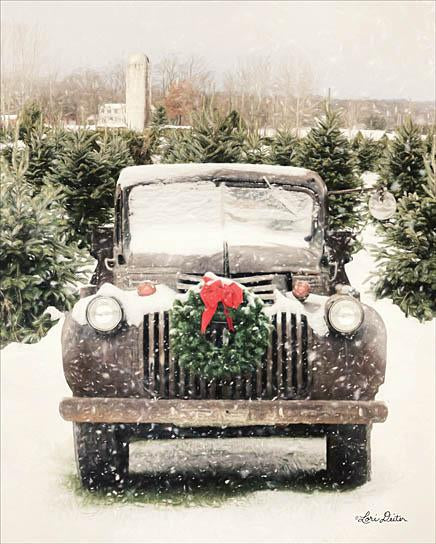 Lori Deiter LD1184 - Winter at the Tree Farm - Truck, Wreath, Christmas Tree Farm, Snow from Penny Lane Publishing