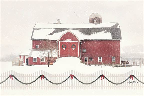 Lori Deiter LD1186 - Please Come Home for Christmas - Barn, Snow, Fence, Farm from Penny Lane Publishing