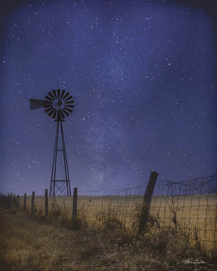 Lori Deiter LD1188 - Starlit Night - Windmill, Farm, Night, Stars from Penny Lane Publishing