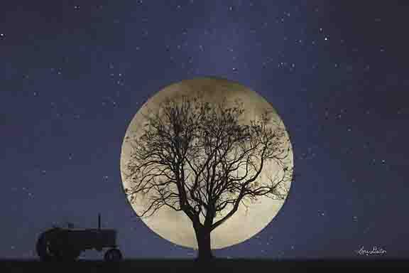 Lori Deiter LD1189 - Full Moon Country Night - Full Moon, Tractor, Farm, Tree from Penny Lane Publishing