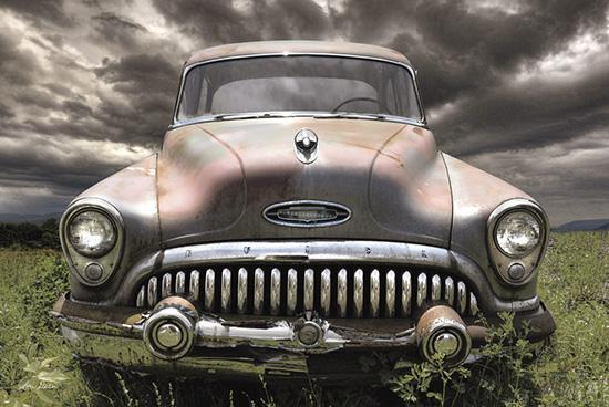 Lori Deiter LD1197 - Stormy Buick - Car, Buick, Storm, Weather, Field from Penny Lane Publishing