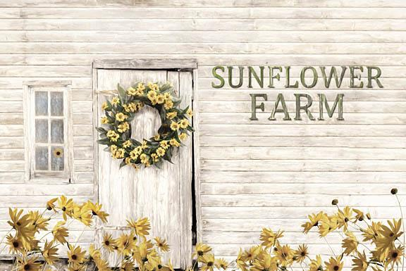 Lori Deiter LD1202 - Sunflower Farm - Sunflowers, Farm, Wreath, Yellow Flowers, Barn from Penny Lane Publishing