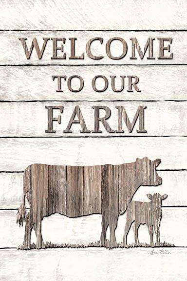 Lori Deiter LD1206 - Cow Welcome to Our Farm - Welcome, Cows, Farm, Wood Planks from Penny Lane Publishing