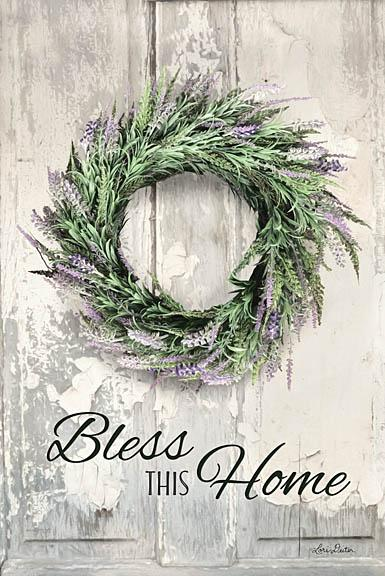 Lori Deiter LD1215 - Bless This Home - Lavender - Lavender, Wreath, Bless This Home from Penny Lane Publishing