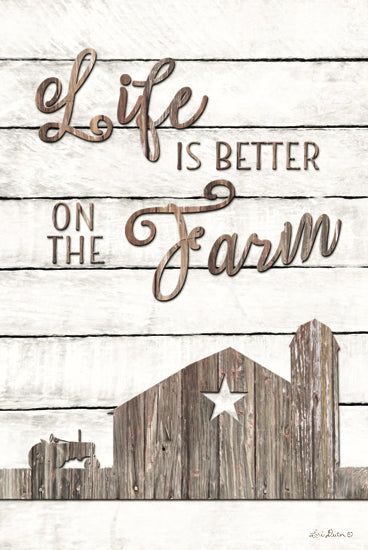Lori Deiter LD1219 - Life is Better on the Farm - Barn, Farm, Wood Planks, Silhouettes from Penny Lane Publishing