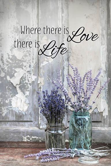 Lori Deiter LD1221 - Where There is Love - Lavender, Jars, Love, Life, Peeling Paint from Penny Lane Publishing