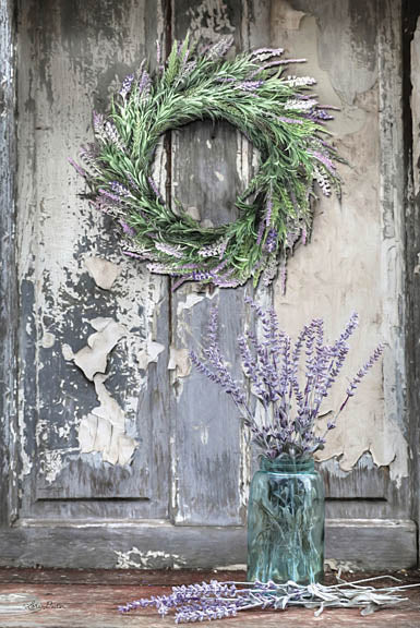 Lori Deiter LD1222 - Sweet Memories - Lavender, Jars, Wreath, Peeling Paint from Penny Lane Publishing