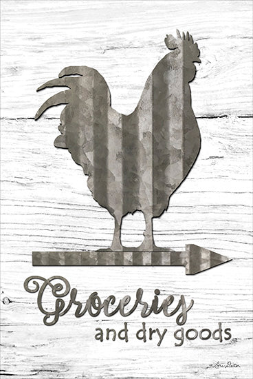 Lori Deiter LD1228 - Groceries - Groceries, Rooster, Wood Inlay, Arrow from Penny Lane Publishing