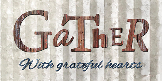 Lori Deiter LD1232 - Gather with Graceful Hearts - Gather, Grateful Heart, Signs, Rust from Penny Lane Publishing