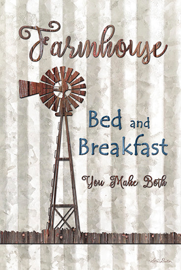 Lori Deiter LD1233 - Farmhouse Bed & Breakfast - Farmhouse, Windmill, Bed and Breakfast, Signs from Penny Lane Publishing