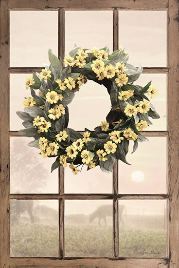 Lori Deiter LD1237 - Country Gazing - Wreath, Window, Farm, Flowers from Penny Lane Publishing