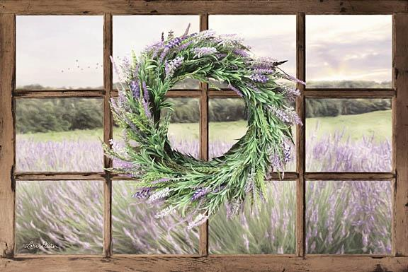 Lori Deiter LD1238 - Lavender Fields - Lavender, Wreath, Window, Herbs, Field from Penny Lane Publishing