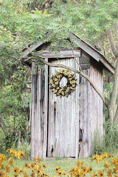 Lori Deiter LD1240 - Flower Power - Outhouse, Wreath, Flowers, Trees, Forest from Penny Lane Publishing