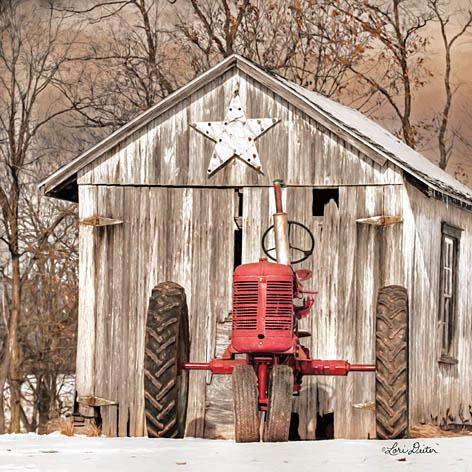 Lori Deiter LD1243 - Star Shed - Shed, Star, Tractor, Snow, Farm from Penny Lane Publishing