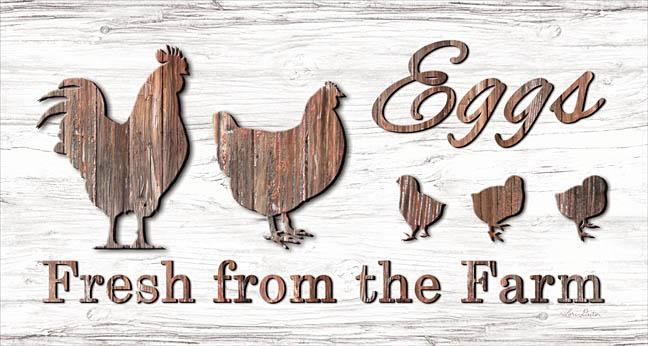 Lori Deiter LD1245 - Farm Fresh Eggs - Rooster, Chickens, Chicks, Eggs, Farm, Wood from Penny Lane Publishing