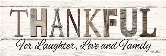 Lori Deiter LD1252 - Thankful for Laughter, Love and Family - Thankful, Family, Wood, Calligraphy, Signs from Penny Lane Publishing