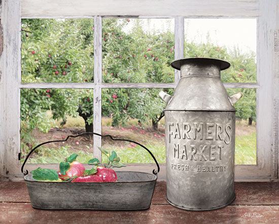 Lori Deiter LD1253 - Apple Orchard - Apples, Orchard, Galvanized Metal, Milk Can, Window, Antiques from Penny Lane Publishing