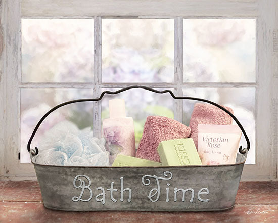 Lori Deiter LD1255 - Bath Time - Bathroom, Soap, Lotion, Galvanized Metal, Feminine, Window from Penny Lane Publishing