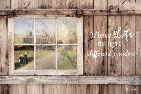Lori Deiter LD1257 - View Life Through a Different Window - Amish, Farm, Window, Barn, Paths, Signs from Penny Lane Publishing