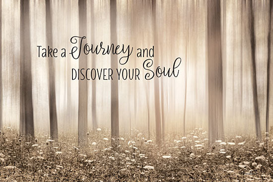 Lori Deiter LD1268 - Take a Journey and Discover Your Soul Trees, Journey, Flowers, Sepia, Motivating from Penny Lane