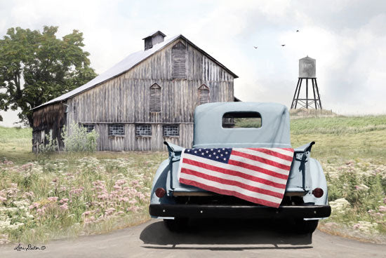 Lori Deiter LD1290 - American Tailgating Truck, Tailgate, Farm, Barn, Water Tower, American Flag from Penny Lane