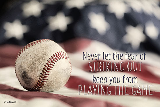 Lori Deiter LD1293 - Baseball - Playing the Game Baseball, Game, Motivating, American Flag, All American from Penny Lane