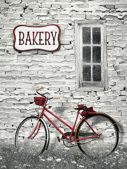 Lori Deiter LD1338 - Bakery Stop Bakery, Bike, Bicycle, Peeling Paint, Signs from Penny Lane