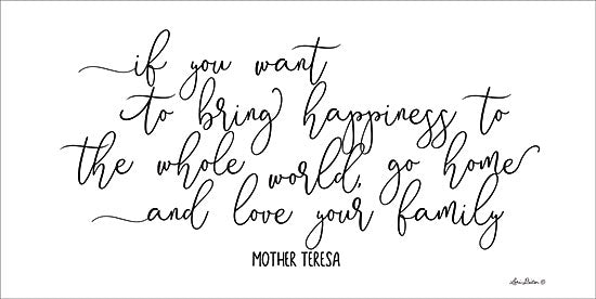 Lori Deiter LD1348 - Love Your Family Love Your Family, Mother Teresa, Quote, Calligraphy from Penny Lane
