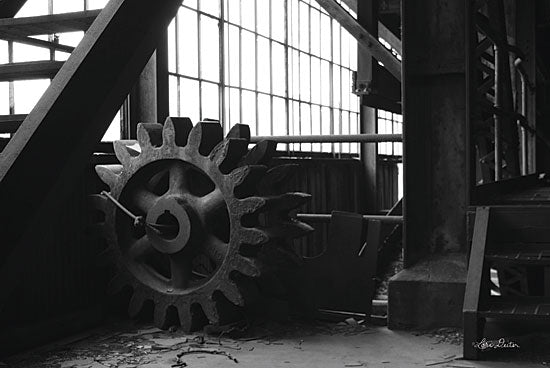 Lori Deiter LD1358 - Old Gears Photography, Gears, Machine, Black & White from Penny Lane