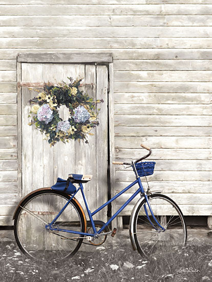 Lori Deiter LD1362 - Life is Like Riding a Bike Bike, Bicycle, Hydrangea, Wreath, Door from Penny Lane