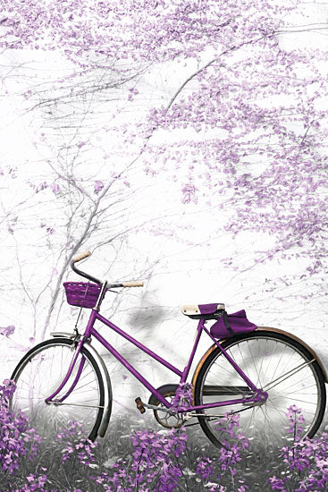Lori Deiter LD1375 - Ultra Violet Bicycle  Bicycle, Trees, Purple, Antique, Bike, Flowering Tree from Penny Lane